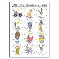 desert fun sticker sheet