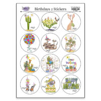 birthdays 2 sticker sheet