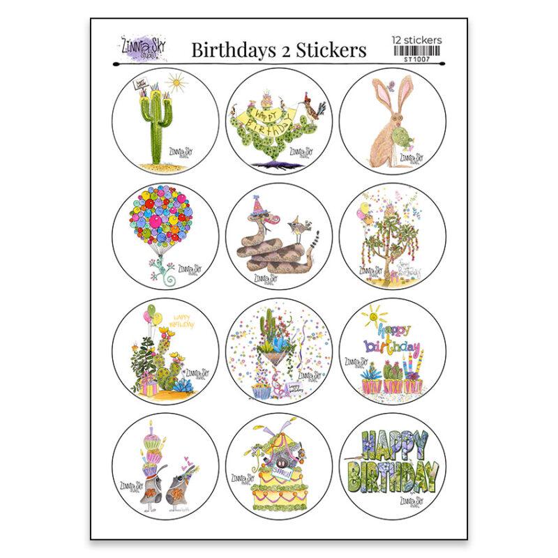 birthdays 2 sticker sheet