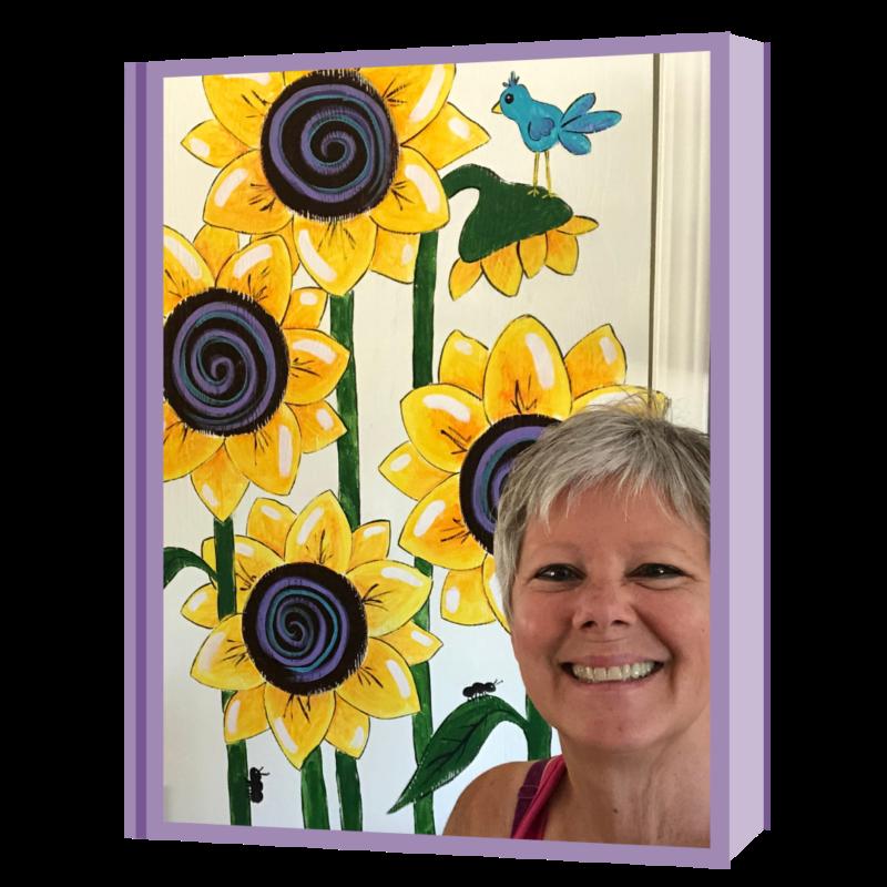 sunflowers door