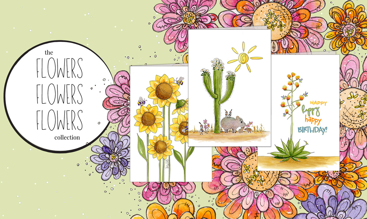 Hero Image for the Flowers, Flowers, Flowers Collection by Zinnia Sky Studio