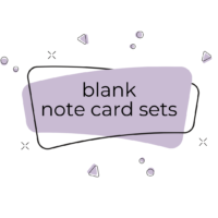 Blank Note Card Sets
