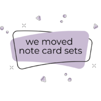 We Moved Note Card Sets